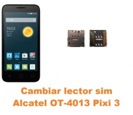 Cambiar lector sim Alcatel Orange Rise 30 OT-4013