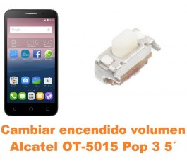Cambiar encendido y volumen Alcatel OT-5015 Pop 3 5´