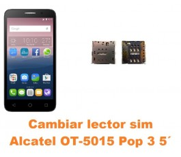 Cambiar lector sim Alcatel OT-5015 Pop 3 5´