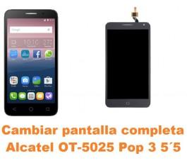 Cambiar pantalla completa Alcatel OT-5025 Pop 3 5.5´