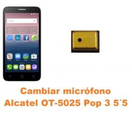 Cambiar micrófono Alcatel OT-5025 Pop 3 5.5´
