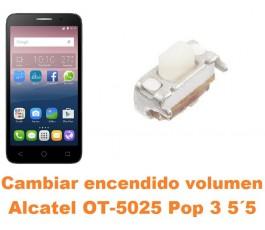 Cambiar encendido y volumen Alcatel OT-5025 Pop 3 5.5´