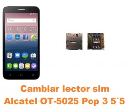 Cambiar lector sim Alcatel OT-5025 Pop 3 5.5´