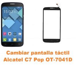 Cambiar pantalla táctil cristal Alcatel C7 Pop OT-7041D