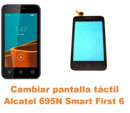 Cambiar pantalla táctil cristal Alcatel 695N Smart First 6