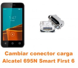Cambiar conector carga Alcatel 695N Smart First 6