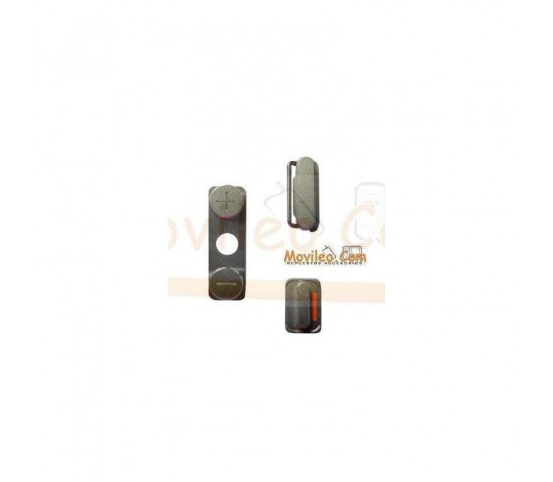 Set de botones laterales vibración encendido y volumen para iPhone 4G 4S - Imagen 1