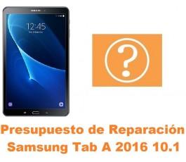 Presupuesto de reparación Samsung Tab A 2016 10.1 T580 T585