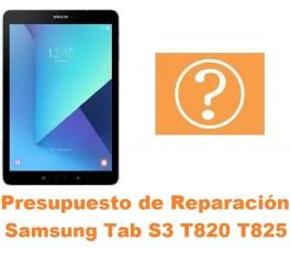 Presupuesto de reparación Samsung Tab S3 T820 T825