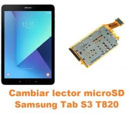 Cambiar lector microSD Samsung Tab S3 T820