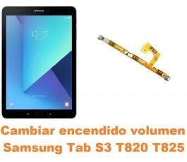Cambiar encendido y volumen Samsung Tab S3 T820 T825
