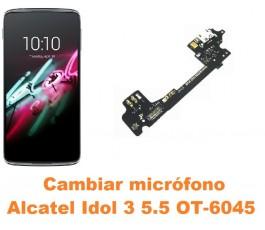 Cambiar micrófono Alcatel OT-6045 Idol 3 5.5