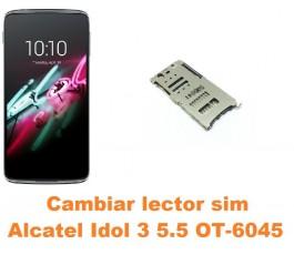 Cambiar lector sim Alcatel OT-6045 Idol 3 5.5