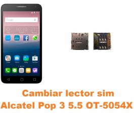 Cambiar lector sim Alcatel OT-5054X Pop 3 5.5