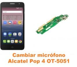 Cambiar micrófono Alcatel OT-5051 Pop 4