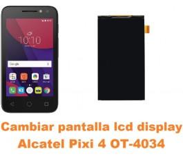 Cambiar pantalla lcd display Alcatel OT-4034 Pixi 4 4´