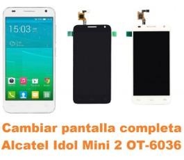 Cambiar pantalla completa Alcatel Idol Mini 2 OT-6036