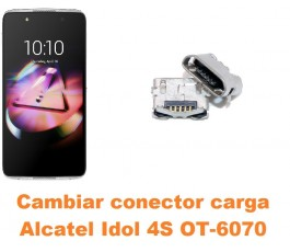 Cambiar conector carga Alcatel Idol 4S OT-6070