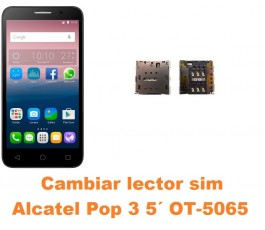 Cambiar lector sim Alcatel OT-5065 Pop 3 5´