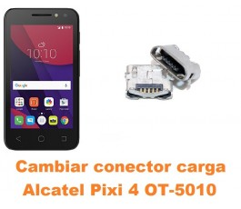 Cambiar conector carga Alcatel OT-5010 Pixi 4