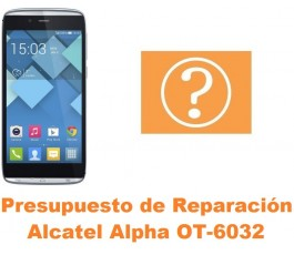 Presupuesto de reparación Alcatel OT-6032 Alpha