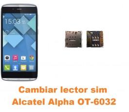 Cambiar lector sim Alcatel OT-6032 Alpha