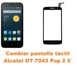 Cambiar pantalla táctil cristal Alcatel OT-7043 Pop 2 5´