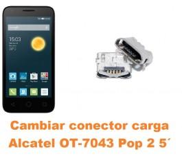 Cambiar conector carga Alcatel OT-7043 Pop 2 5´