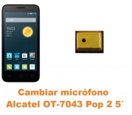 Cambiar micrófono Alcatel OT-7043 Pop 2 5´
