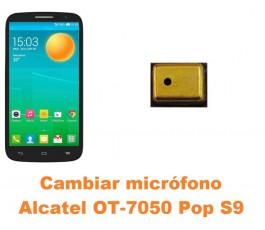 Cambiar micrófono Alcatel OT-7050 Pop S9