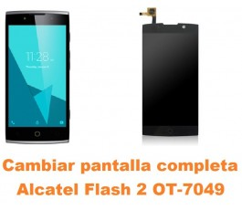 Cambiar pantalla completa Alcatel OT-7049 Flash 2