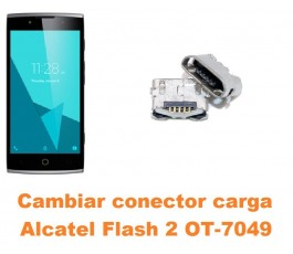 Cambiar conector carga Alcatel OT-7049 Flash 2