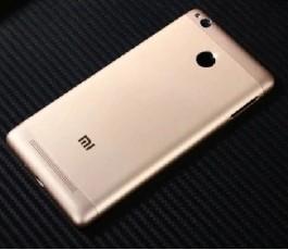 Tapa trasera para Xiaomi Redmi 3S dorado