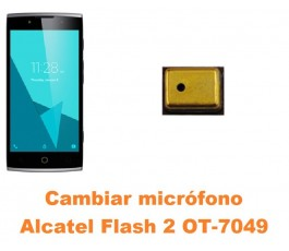 Cambiar micrófono Alcatel OT-7049 Flash 2