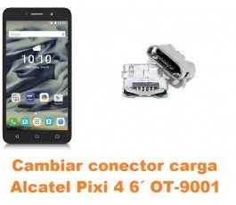 Cambiar conector carga Alcatel OT-9001 Pixi 4 6´
