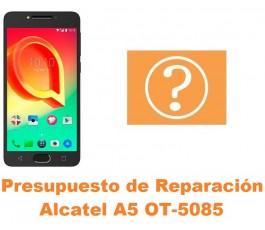 Presupuesto de reparación Alcatel OT-5085 A5 A5 LED