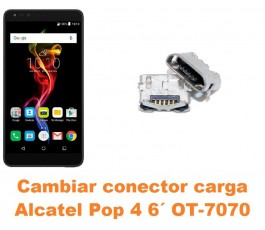 Cambiar conector carga Alcatel OT-7070 Pop 4 6´