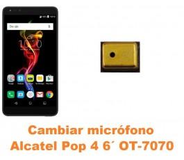 Cambiar micrófono Alcatel OT-7070 Pop 4 6´