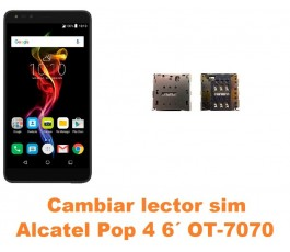 Cambiar lector sim Alcatel OT-7070 Pop 4 6´