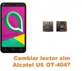 Cambiar lector sim Alcatel OT-4047 U5