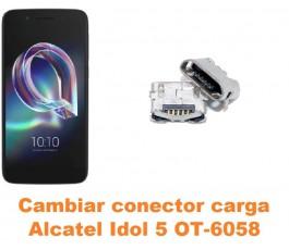 Cambiar conector carga Alcatel OT-6058 Idol 5 5.2´