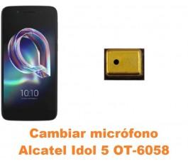 Cambiar micrófono Alcatel OT-6058 Idol 5 5.2´