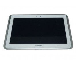 Pantalla completa con marco para Samsung Note 10.1 N8000 blanca