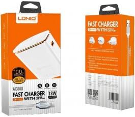 Cargador casa Lightning LDNIO A1301Q con cable