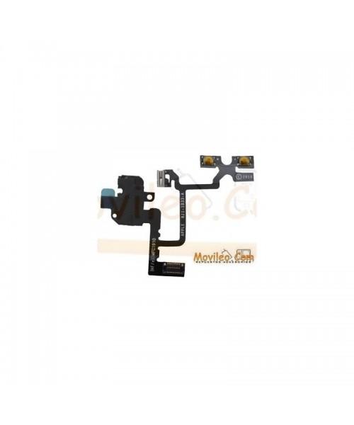 Cable flex con conector de auriculares blanco botones de volumen y silencio para iPhone 4g - Imagen 1