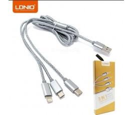 Cable 3 en 1 LDNIO LC85C
