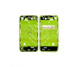 Chasis central verde con los botones y bandeja sim para iphone 4 - Imagen 2