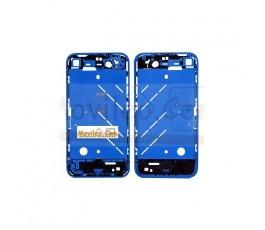 Chasis central azul con los botones y bandeja sim para iphone 4 - Imagen 2