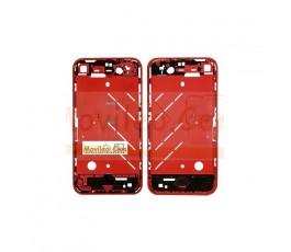 Chasis central rojo con los botones y bandeja sim para iphone 4 - Imagen 2