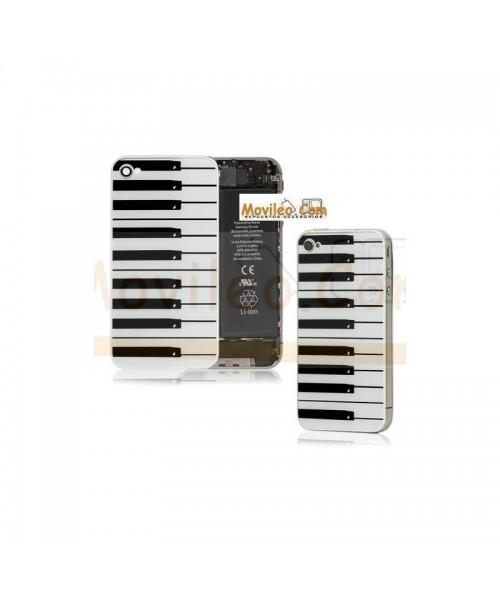 Carcasa trasera, tapa de batería teclado de piano para iPhone 4 - Imagen 1